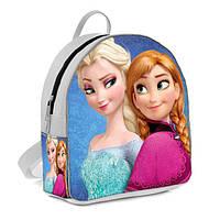 Белый детский рюкзак с принтом Холодное сердце