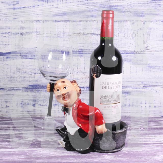 Подставка для бутылки и бокала