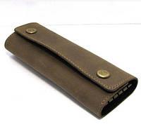 Ключница кожаная брендовая DNK чехол для ключей 14,5х5,7х3,5см
