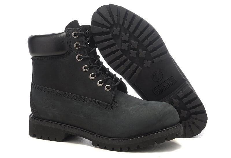 Мужские ботинки Timberland 6 inch Classic Black Boots (Тимберленд) - черные