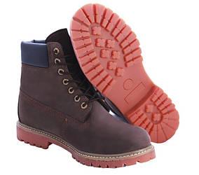 Мужские ботинки Timberland Classic 6 inch Brown (Тимберленд) - коричневые