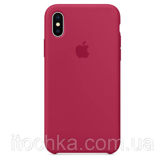 Silicone case for iPhone X (Copy) Rose Red
