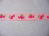 Лента репсовая с сердечками, 9 мм