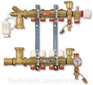 Giacomini 557FY003 1x18/3 Розподілювач для теплої підлоги у комплекті з водомірами, фото 2
