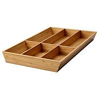 IKEA VARIERA Лоток / контейнер для столовых приборов, бамбук  (902.046.96)