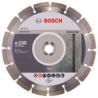 Алмазный отрезной диск круг 230 x 22,23 мм для обработки бетона Standard for Concrete BOSCH