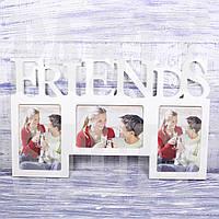 "Рамка-коллаж белая ""Friends"", 25*41 см"