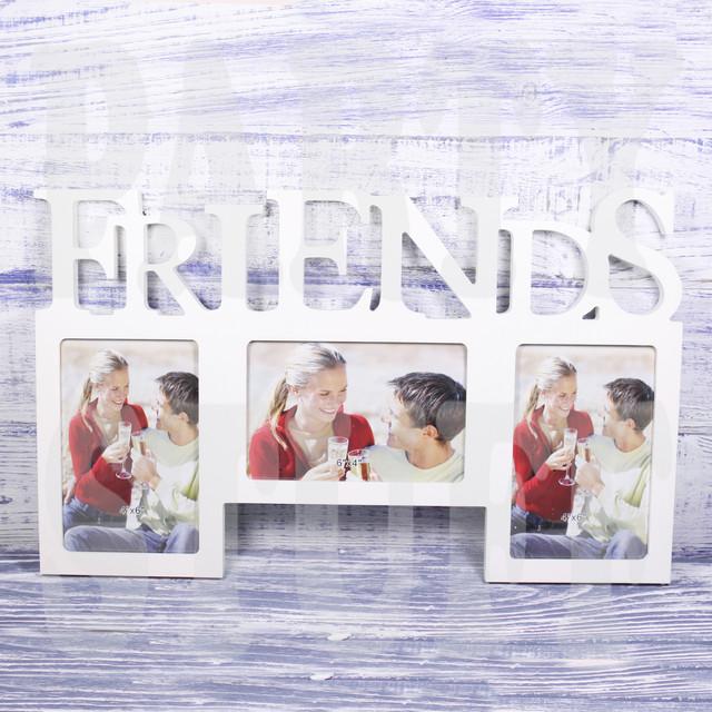 """Рамка-коллаж белая """"Friends"""""""