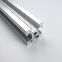 Алюминиевый профиль 20х20 V-slot без покрытия, 3-й сорт