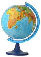 Глобус настольный диаметр 25см GLOWALA на пластиковой ножке физический 0614