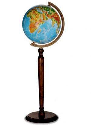 Глобус напольный диаметр 32см GLOWALA на деревянной ножке физический 0522