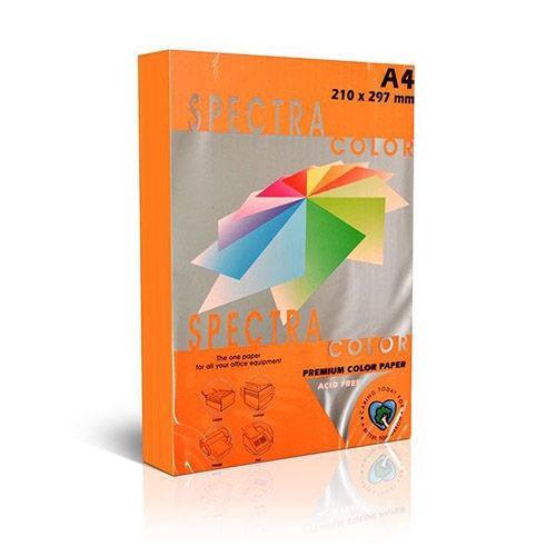 Бумага цветная для принтера Неон А4 75г/м 500л. SPECTRA color_371 оранжевый флюо