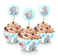 """Топперы для капкейков, десертов и кексов """"Мишка Тедди"""", 6 шт./уп."""