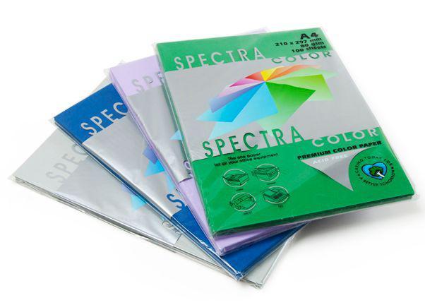 Бумага цветная для принтера Неон А4 80г/м 100л. SPECTRA color цвет на выбор_321 зеленый флюо