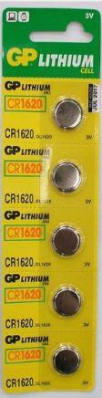 Батарейка (таблетка) GP 1шт CR1620-U5 литиевая