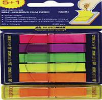 Стикеры-закладки пластиковые 5+1кол.*40л. Buromax 2303-98