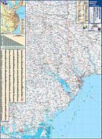 Карта Автодорог Одесская обл. складная