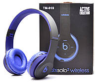Беспроводные наушники Monster Beats Solo 2 by Dr.Dre TM-019 Black/Blue