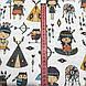 Хлопковая ткань польская с маленькими индейцами на белом №157, фото 2