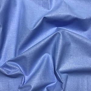 Хлопковая ткань однотонная васильковая (плот. 135 г/м.кв) №156