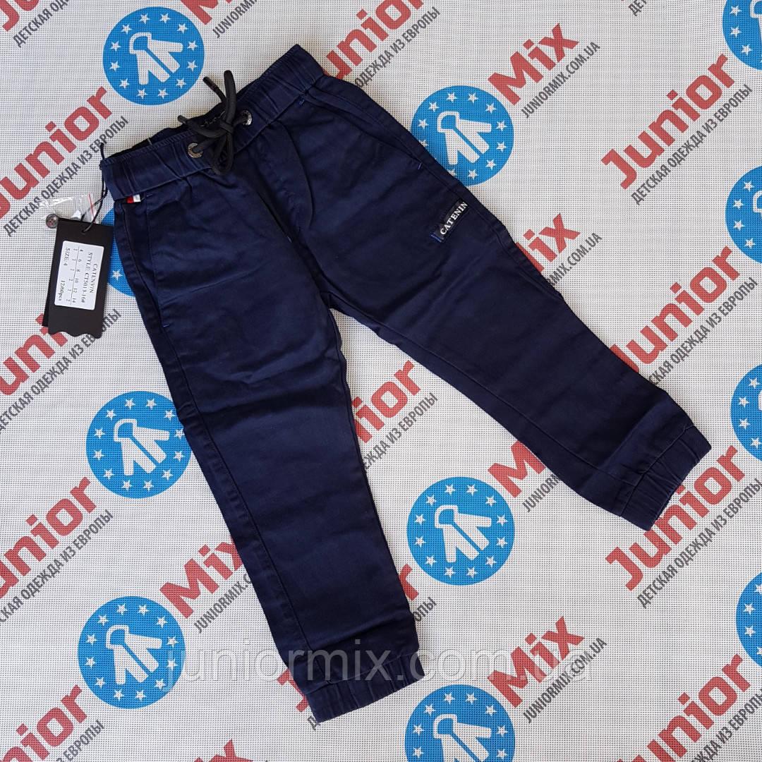 Котоновые брюки синего цвета для мальчиков оптом CATENVIN