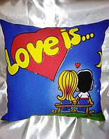 Сувенирная подушка 14 февраля, день влюбленных