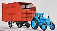 """Масштабная модель прицепа тракторного самосвального ПТС-8545-45 1/43 в варианте кузова """"мажара"""", фото 1"""