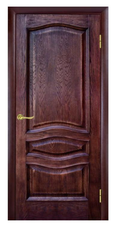 Межкомнатные двери ЛЕОНА ПГ ПАТИНА ОРЕХ