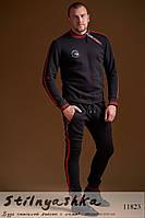 Теплый прогулочный мужской костюм черный
