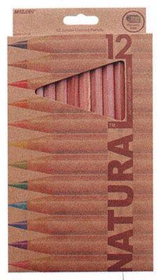 Карандаши цветные толстые 12цв. MARCO Natural JUMBO с точилкой 6400-12CB