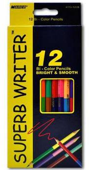 Карандаши  цветные 12шт/24цв. MARCO Superb Writer двухсторонний 4110-12CB