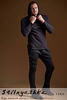 Прогулочный черный мужской костюм