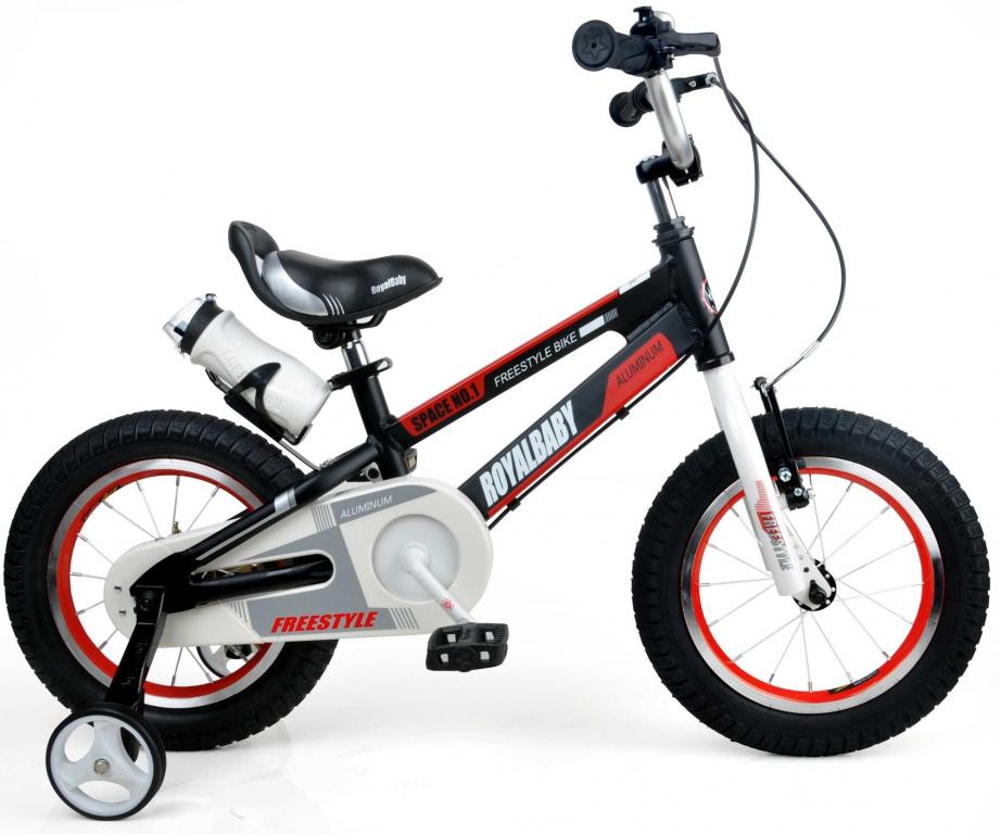 """Детский велосипед Royal Baby SPACE NO.1 16""""   Черный/Белый/Красный"""