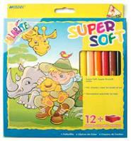 Карандаши цветные толстые 12цв. MARCO JUMBO Colorite SUPER SOFT с точилкой 1650-12CB