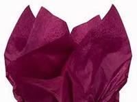 Папиросная бумага тишью сливовая (марсала) 50*75 см 18 г/м²