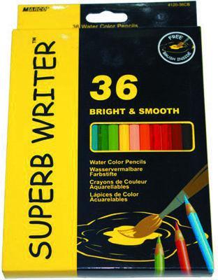 Карандаши акварельные 36цв. MARCO Water Soluble Colors с кисточкой 4120-36CB