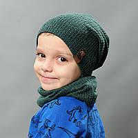 Набор шапка и хомут весна для мальчика Макс
