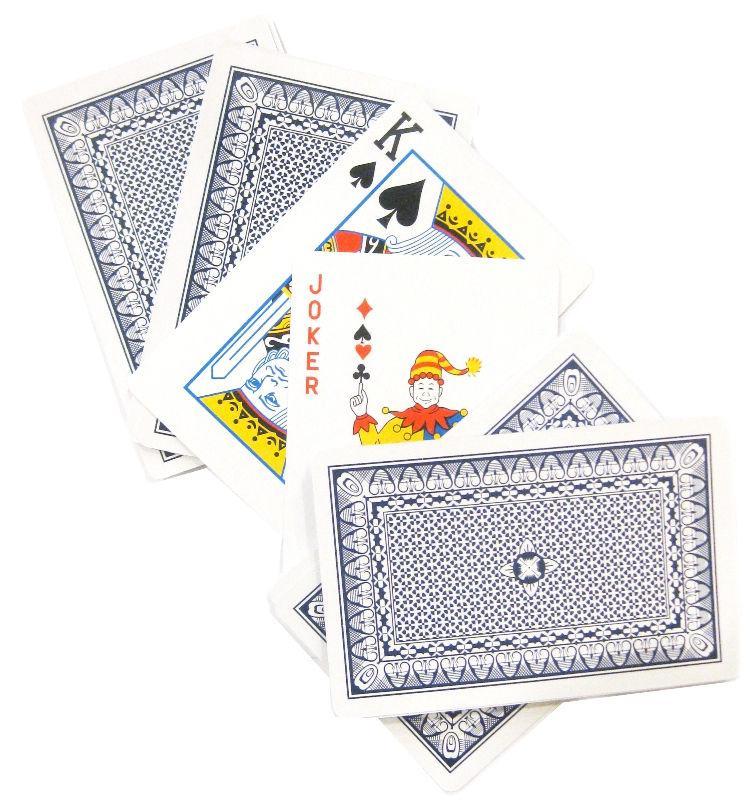 Карты игральные 1 колода 54 карты, в упаковке POKER Clear Y020