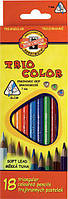 Карандаши цветные 18цв. KOH-I-NOOR 3133 Triocolor