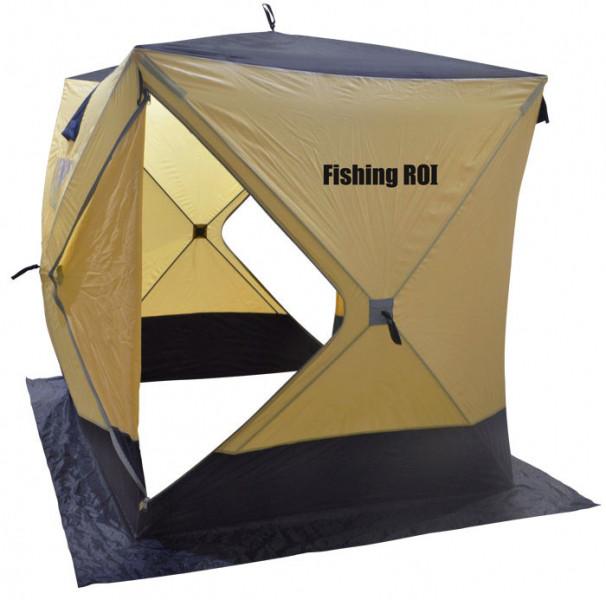 "Палатка зимняя Куб ""Fishing ROI"" (180*180*205см.) beige-dark"