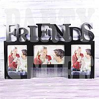 "Рамка-коллаж черная ""Friends"", 25*41 см"