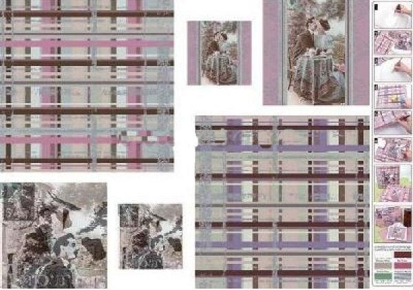 Декупажная карта-бумага 50*70см с металл. эффектом 92032 Винтажные дамы
