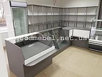 Стеллажи, прилавки, витрины для продуктового магазина. ТО-128