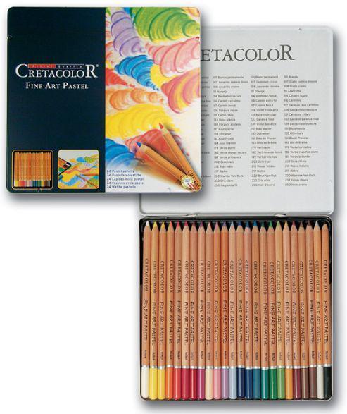 Набор карандашей пастельных CRETACOLOR Fine Art Pastel 24шт мет коробка 47024