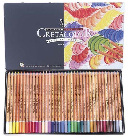 Набор карандашей пастельных CRETACOLOR Fine Art Pastel 36шт мет коробка 47036