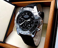 Часы мужские кварцевые Rolex серебро, магазин мужских часов