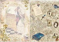 Декупажная карта-бумага 31*44см 45г/м 01147 Любовное письмо