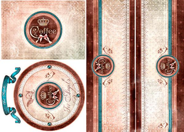 Декупажная карта-бумага 31*44см 45г/м 01716 Кофейный ангел