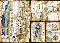Декупажная карта-бумага 31*44см 45г/м 01720 Старинная карта
