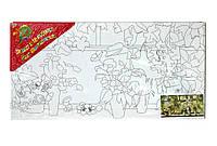 Картина раскраска с контурами на холсте 1 ВЕРЕСНЯ 20*40см Петунии в вазах 951000